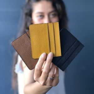 Leather cardholders - Kayde Leather